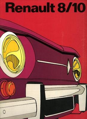 Renault 8 10 Prospekt ca. 1972