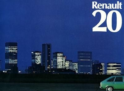Renault 20 Prospekt ca. 1976