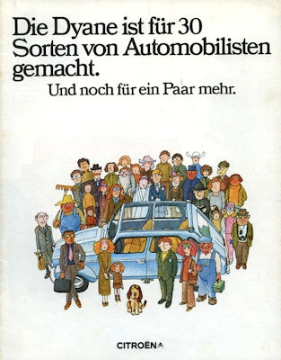 Citroen Dyane Prospekt 1974 0