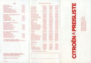 Citroen Preisliste 3.1975 Aus