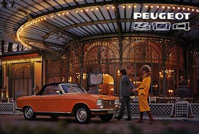 Peugeot 304 Cabriolet / Coupé Prospekt 1972