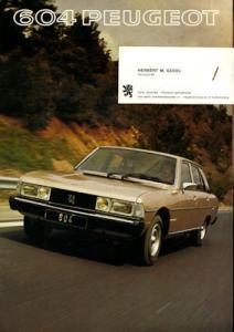 Peugeot 604 Prospekt 1977