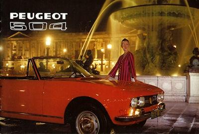 Peugeot 504 Cabriolet / Coupé Prospekt 1972