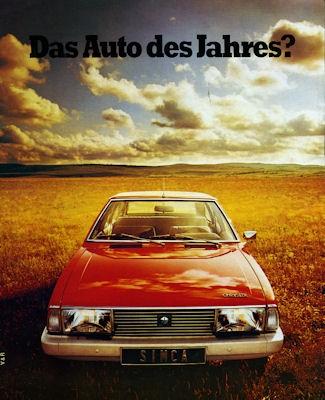 Simca 1307 1308 Prospekt ca. 1978