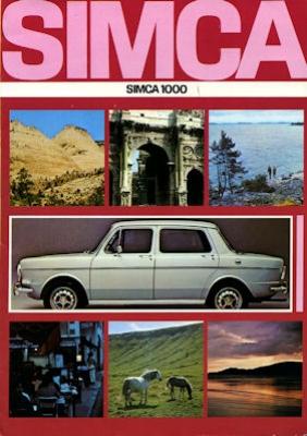 Simca 1000 Prospekt 1972