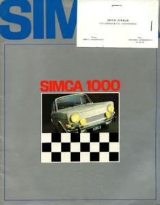 Simca 1000 Prospekt 1969