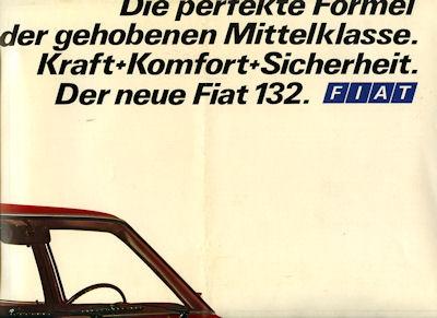 Fiat 132 Prospekt ca. 1972