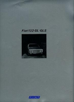 Fiat 132 GLS / GL Prospekt ca. 1974