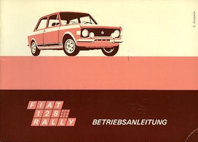 Fiat 128 Rally Bedienungsanleitung 1973