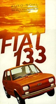 Fiat Seat 133 Prospekt ca. 1974