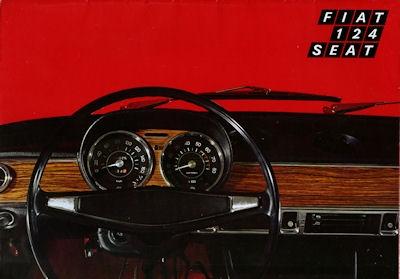 Fiat Seat 124 Prospekt ca. 1972