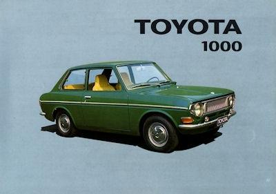 Toyota 1000 Prospekt ca. 1974