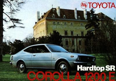 Toyota Corolla 1200 E Hardtop SR Prospekt ca. 1974
