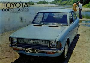 Toyota Corolla 1200 Sedan Deluxe Prospekt ca. 1974