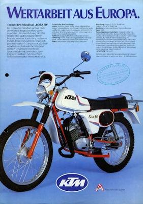 KTM Programm ca. 1982