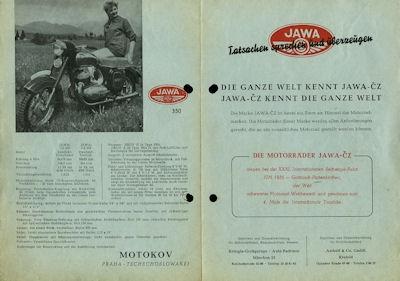 Jawa 50 175 350 Prospekt 1957