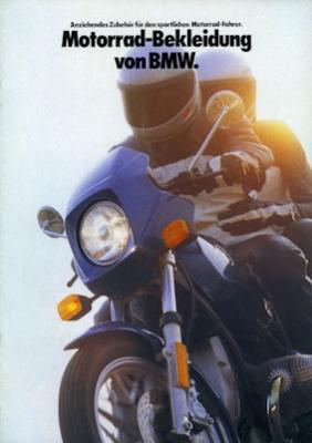 BMW Motorrad-Bekleidung Prospekt 1983