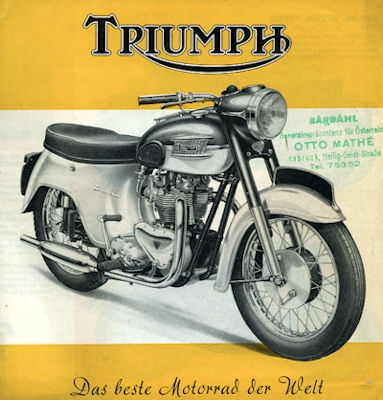Triumph Programm 1960