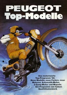 Peugeot Mofa und Moped Programm 1982