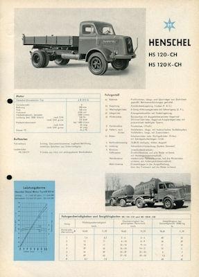 Henschel HS 100-CH + 120 K-CH Prospekt 2.1959