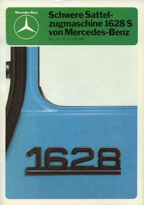 Mercedes-Benz Schwere Sattel-Zugmaschine 1628 S Prospekt 1980