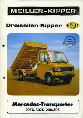 Mercedes-Benz Meiller Dreiseiten-Kipper Prospekt 1975