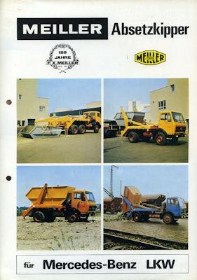 Mercedes-Benz Meiller Absetz-Kipper Prospekt 1975