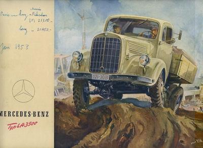 Mercedes-Benz L-3500 Prospekt 1953