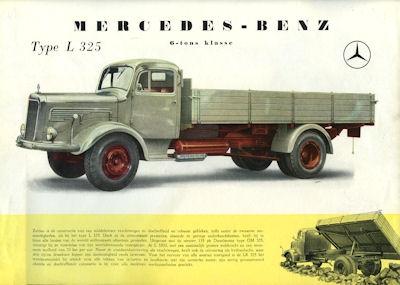 Mercedes-Benz L 325 Prospekt ca. 1956 nl