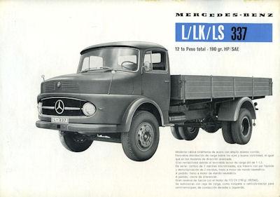 Mercedes-Benz L LK LS 337 Prospekt 1959 sp