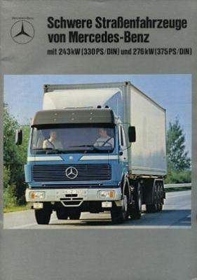 Mercedes-Benz Schwere Straßenfahrzeuge Prospekt 1981