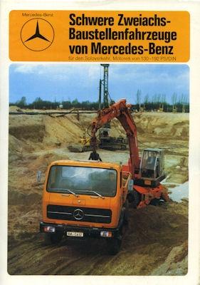 Mercedes-Benz Schwere Zweiachs-Baustellenfahrzeuge Prospekt 1976