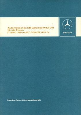 Mercedes-Benz Getriebe W4A 018 Reparaturanleitung 1975