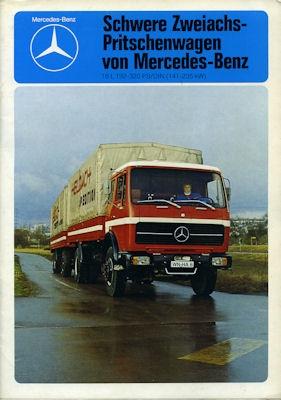 Mercedes-Benz Schwere Zweiachs-Pritschenwagen Prospekt 1977