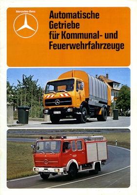 Mercedes-Benz Automatische Getriebe Prospekt 1979