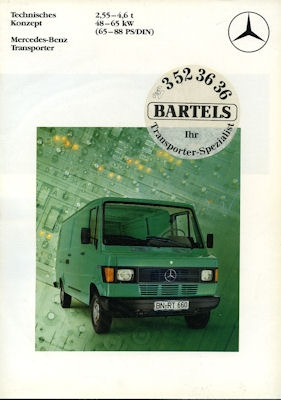 Mercedes-Benz Transporter Prospekt 1982