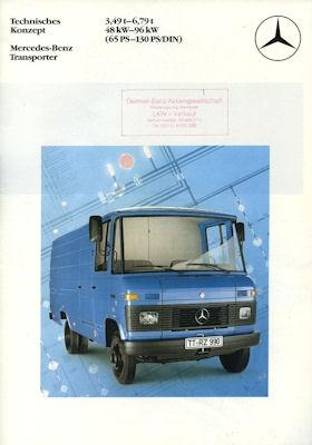Mercedes-Benz Transporter Prospekt 6.1982