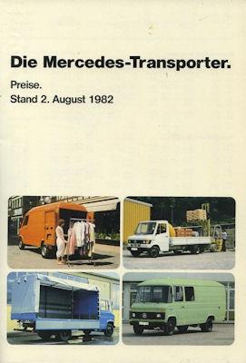 Mercedes-Benz Transporter Preisliste 8.1982