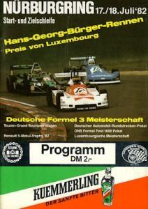 Programm Nürburgring 17.7.1982