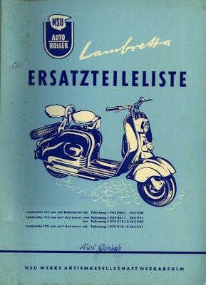 NSU Lambretta Ersatzteilliste 5.1955