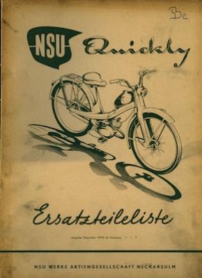 NSU Quickly Ersatzteilliste 12.1953