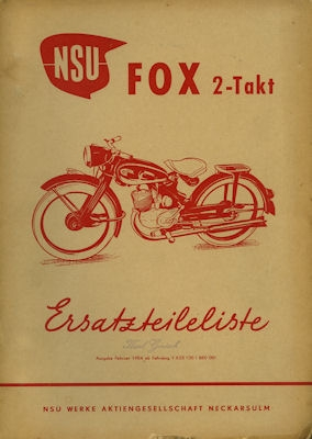 NSU Fox Ersatzteilliste 2.1954