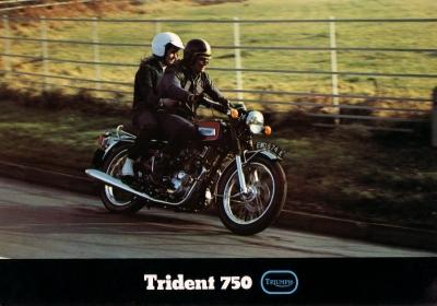 Triumph Trident 750 Prospekt ca. 1975