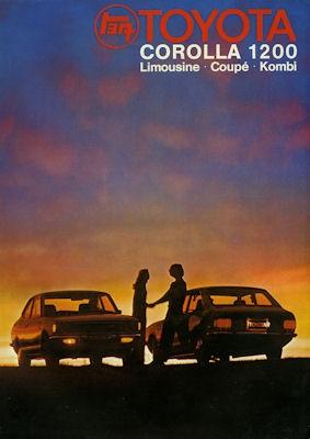 Toyota Corolla 1200 Prospekt 1973
