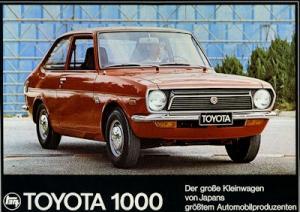 Toyota 1000 Prospekt ca. 1972