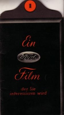 Ford Werk-Köln Prospekt 1930er Jahre