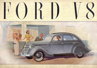 Ford V 8 Prospekt ca. 1939