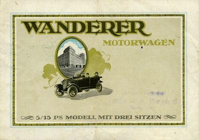 Wanderer 5/15 PS Prospekt 1924
