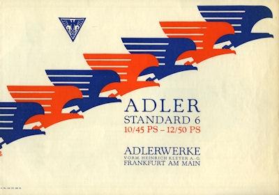 Adler Standard 6 Prospekt 12.1928