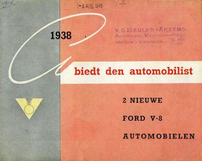 Ford V 8 Programm 1938 nl